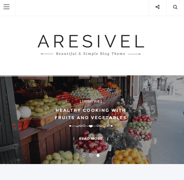Aresivel - Blogging WP theme