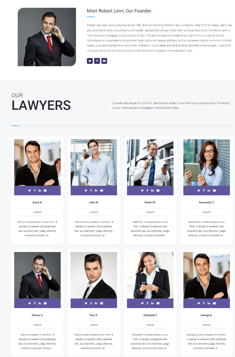 Attorneys of MyLawyer theme