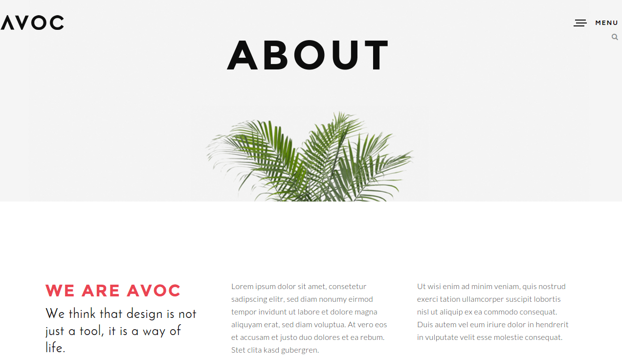 Avoc About Page
