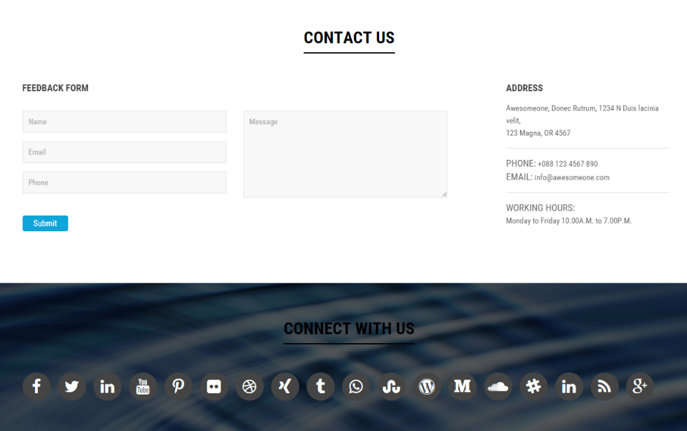 AwesomeOne - contact us