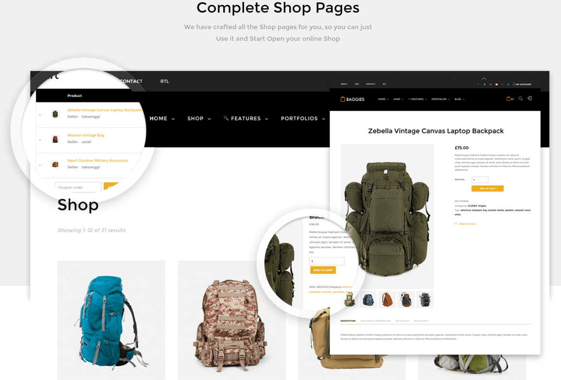 Baggies Completed Shop Page