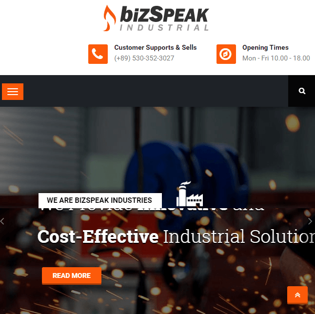 Bizspeak - Clean and Professional Business WordPress theme