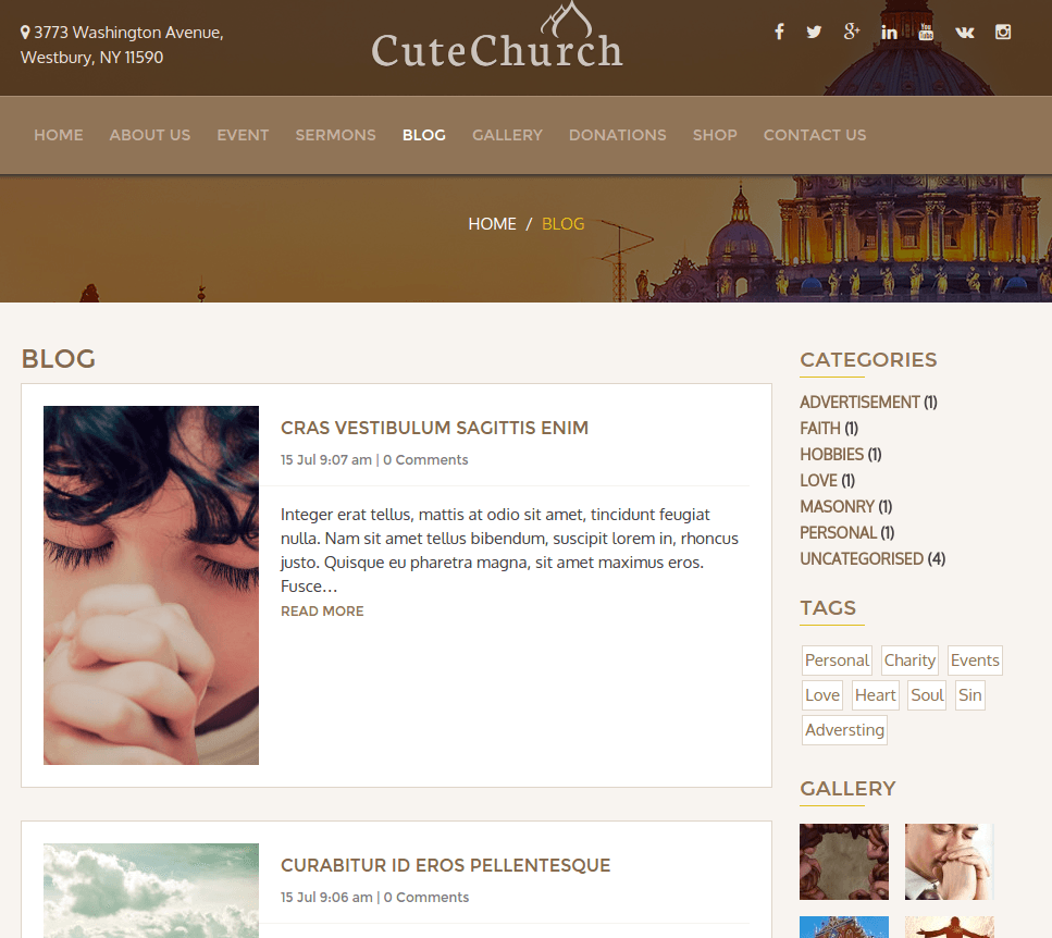 Blog CuteChurch