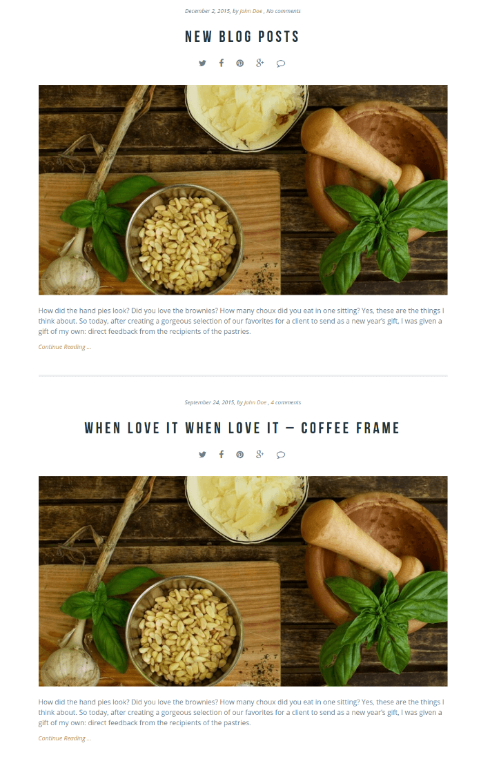 Blog Page - Gourmet