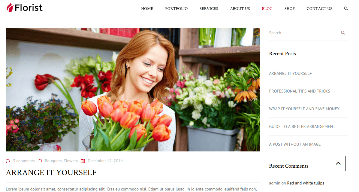 Blog page of Florist