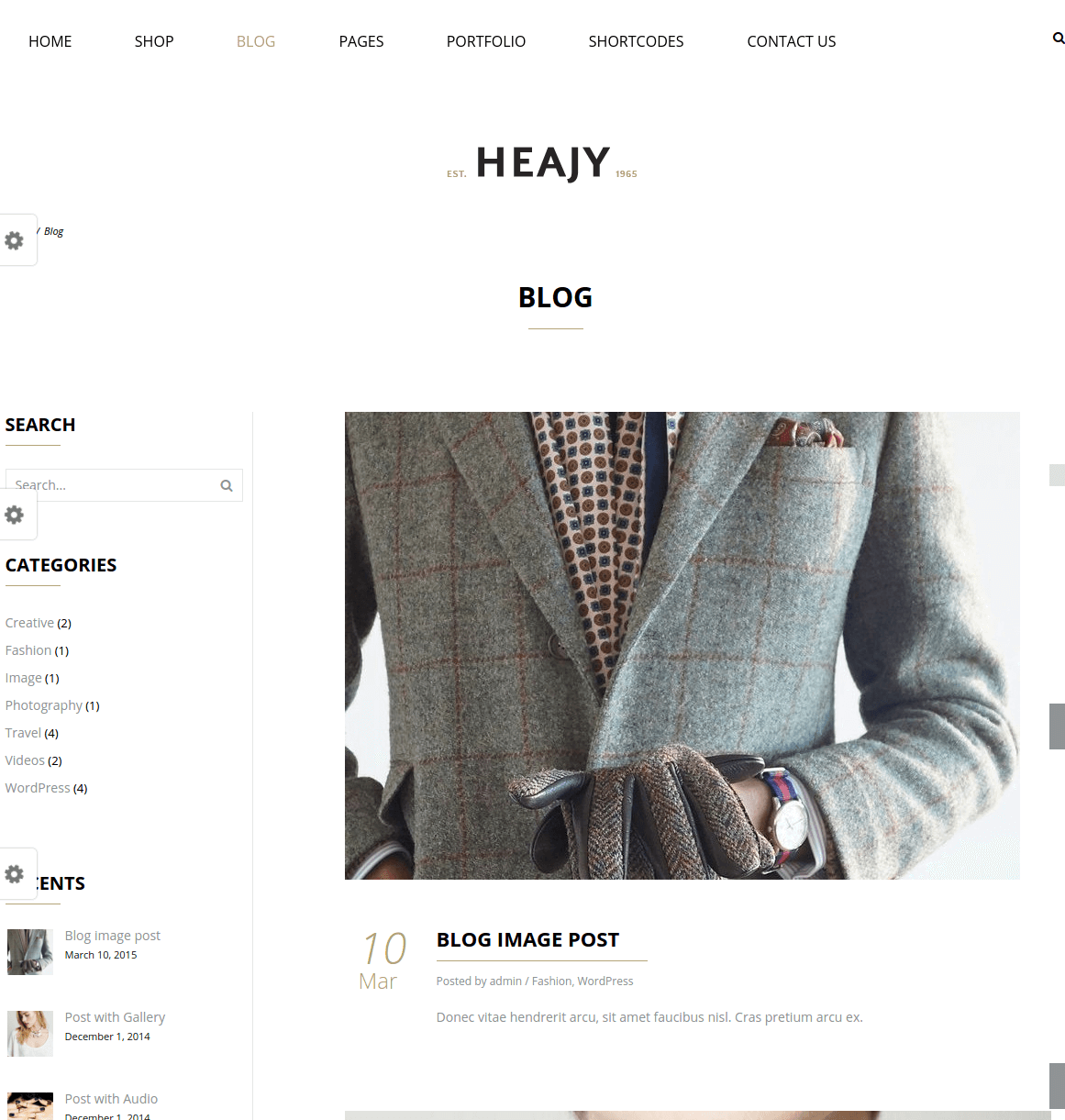 Blog page of Heajy