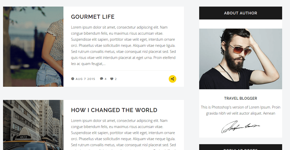 Blog page of Hornet