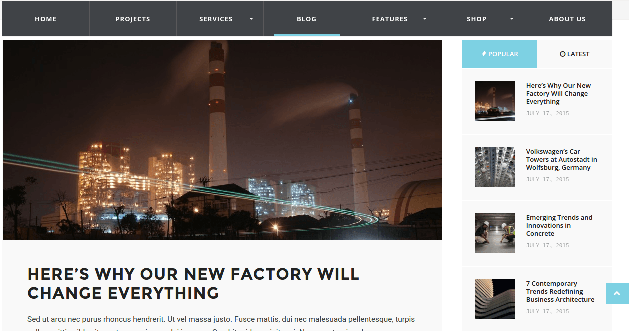 Blog page of WP Industry