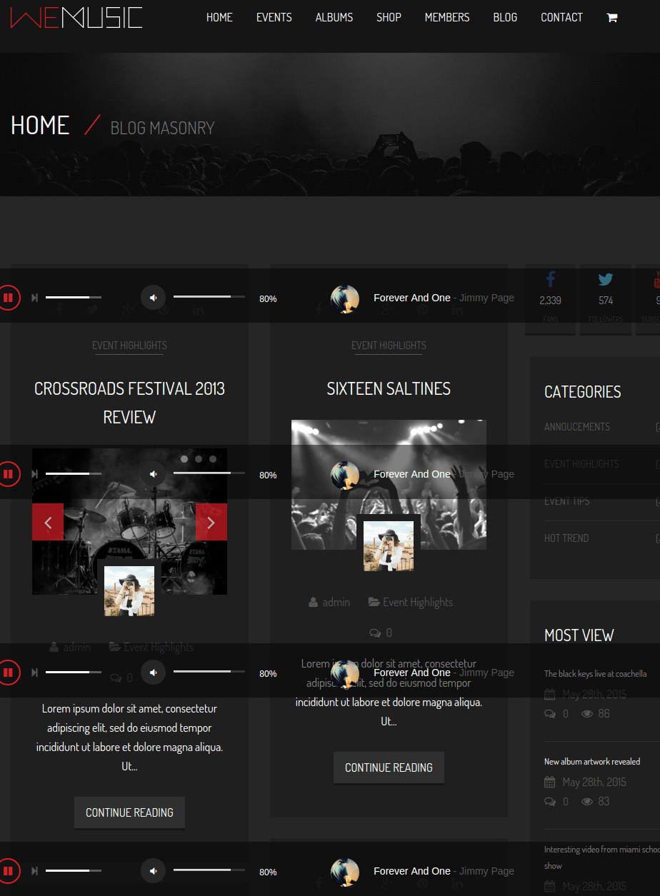 Blog page of WeMusic