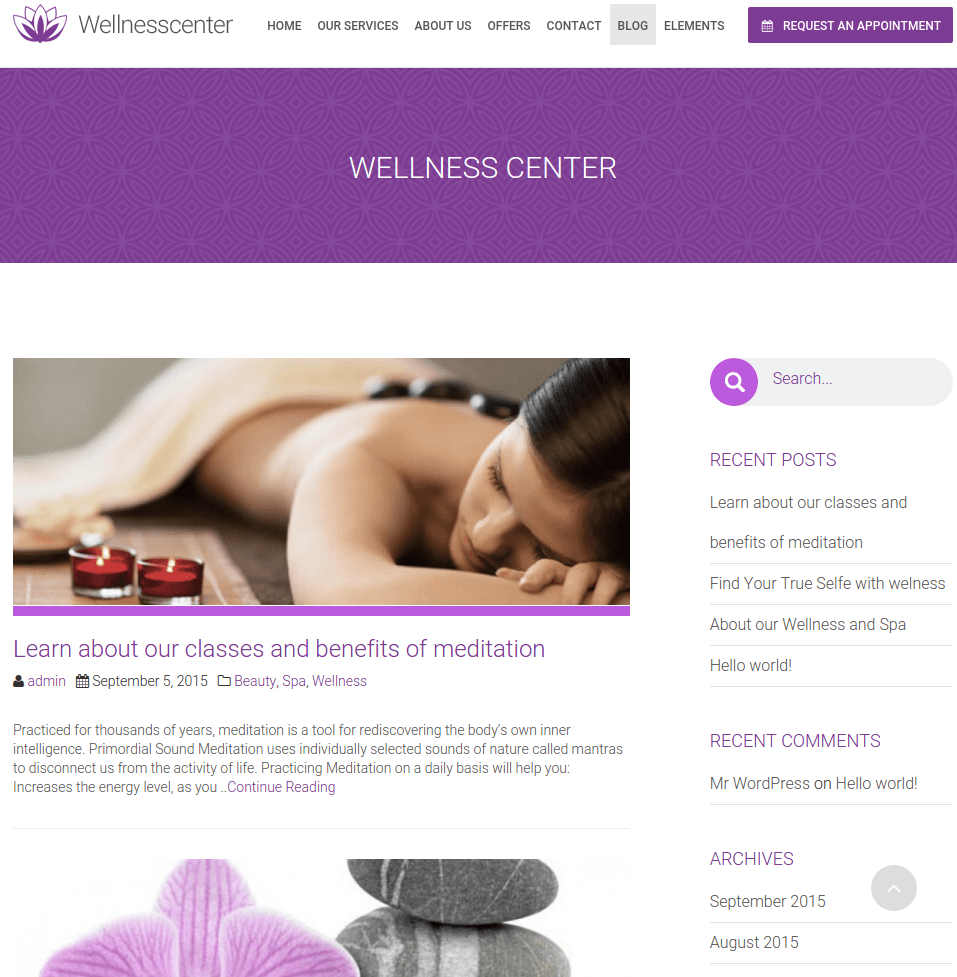 Blogpage of Wellnesscenter