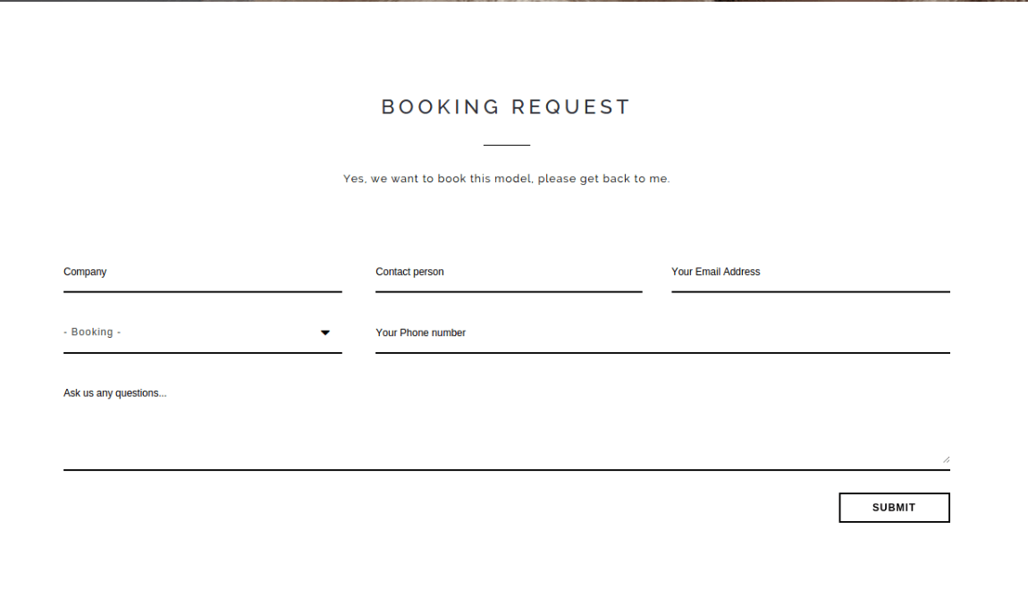 Booking Form - DONDO