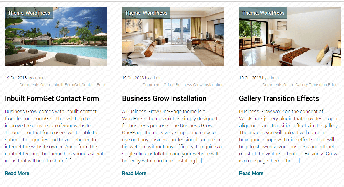 Business Grow- Recent blog layout