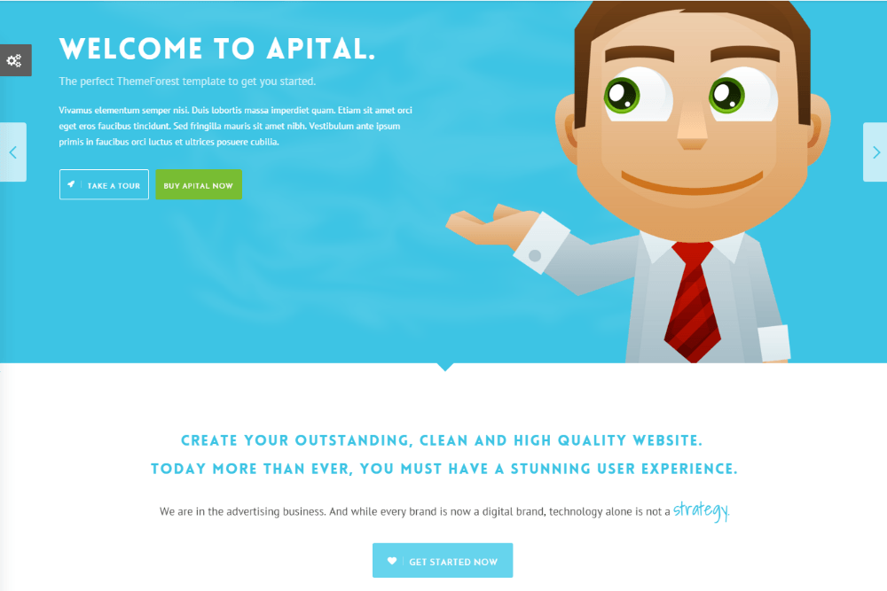 Business sliders of Apital theme