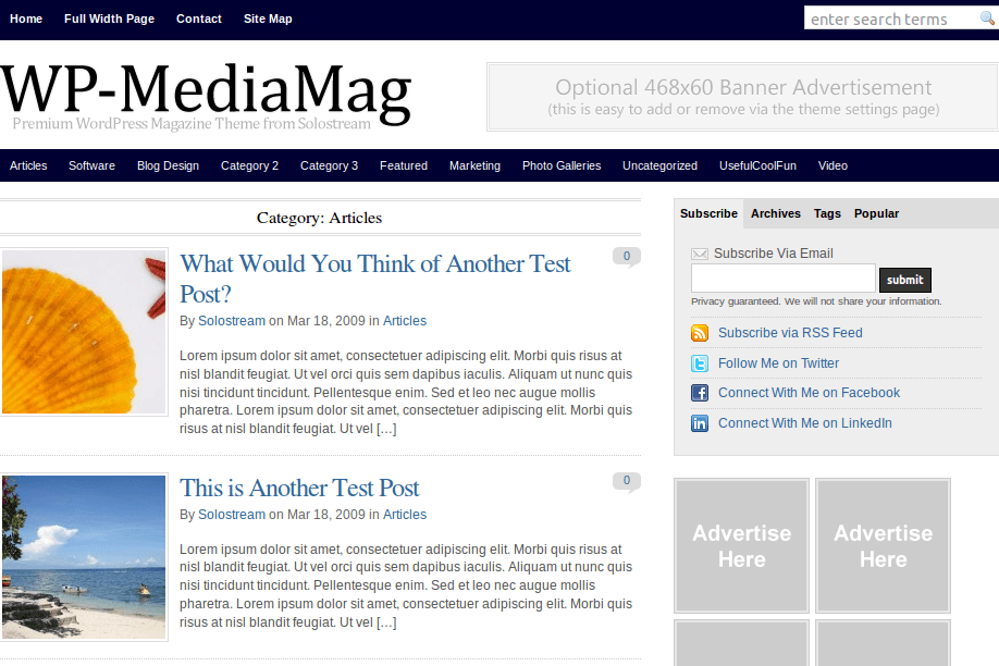 Category-MediaMag Wordpress