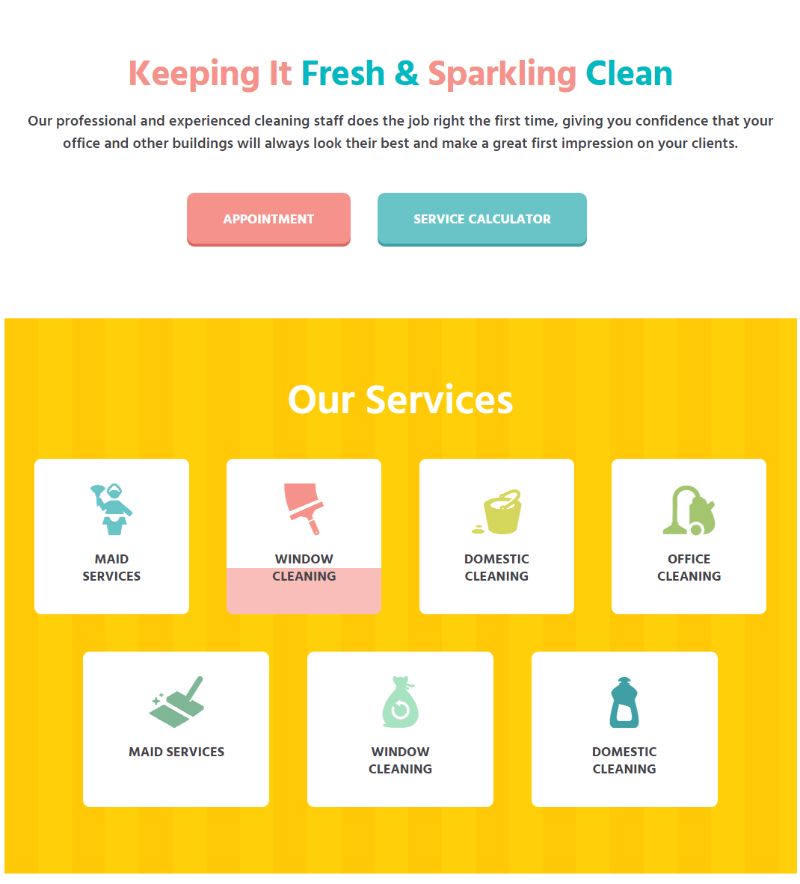 Cleaning Company - services
