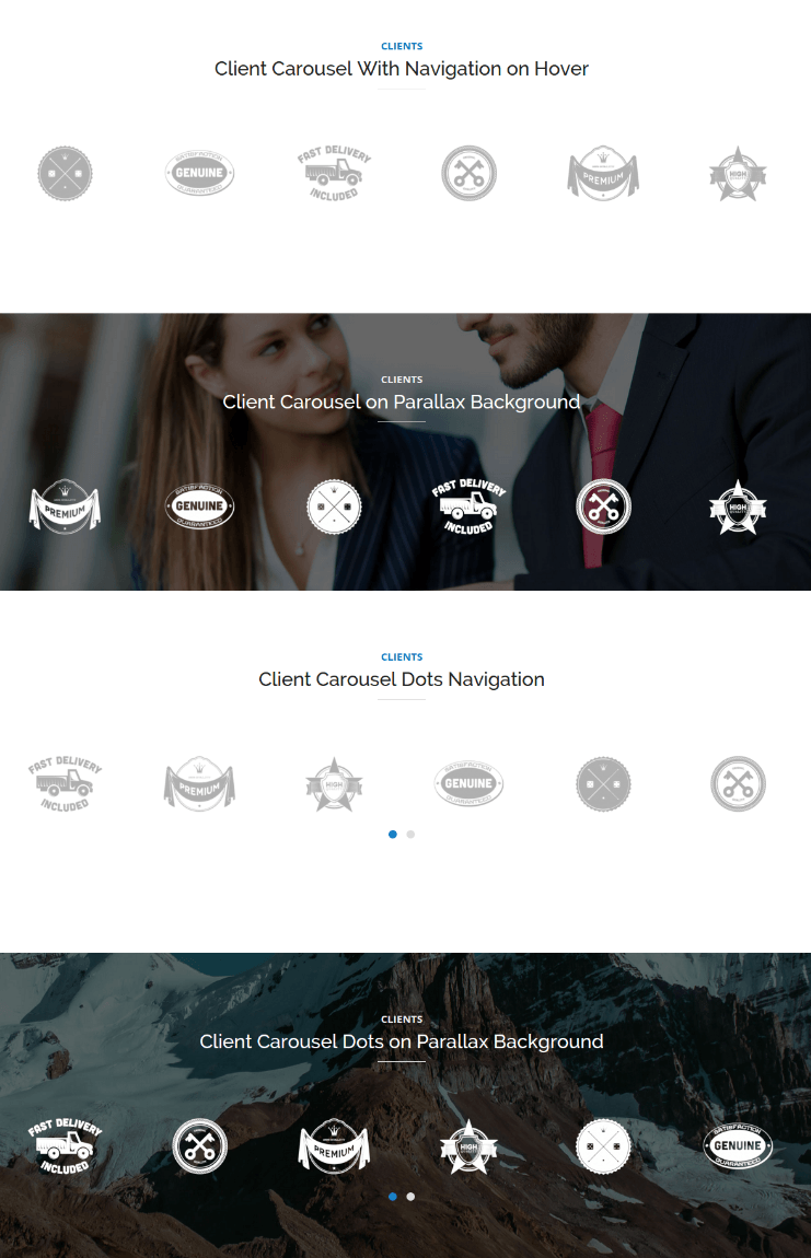 Clients Page - Mixed