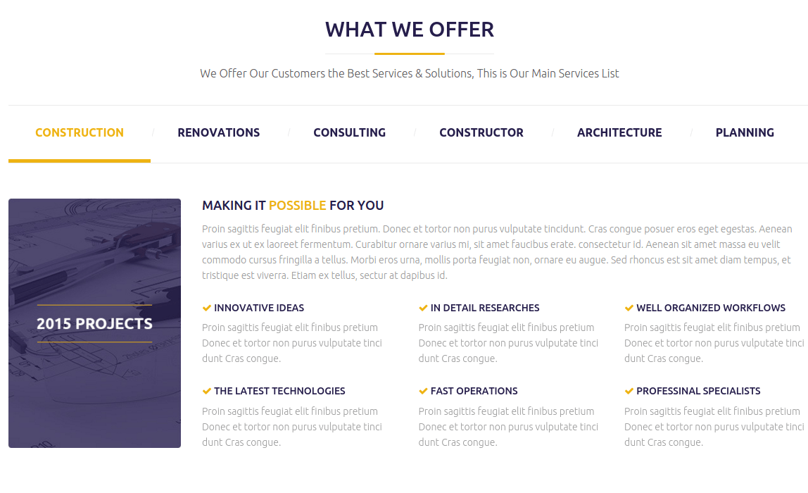 Constructent What We Offer Page