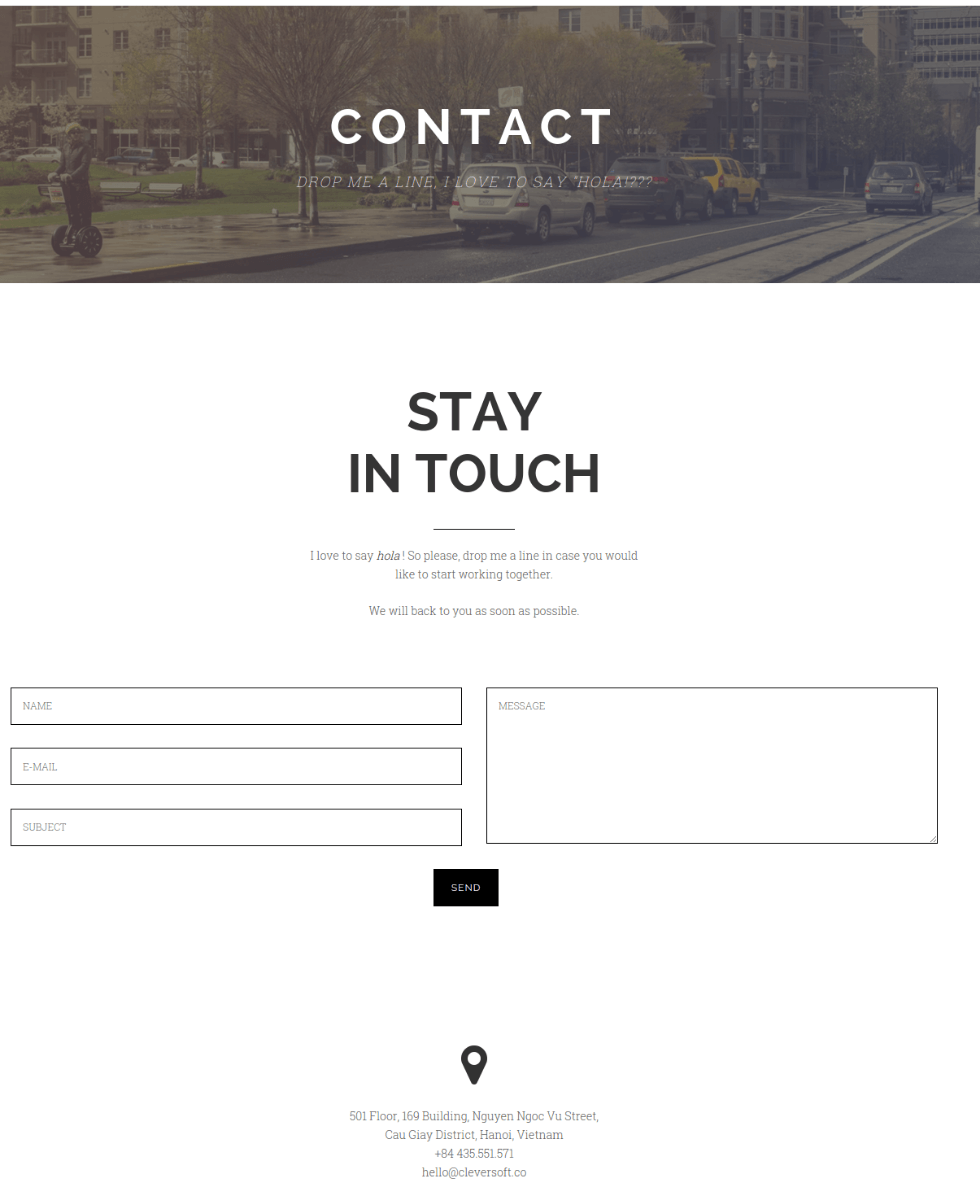 Contact Page - Ri Twoblog
