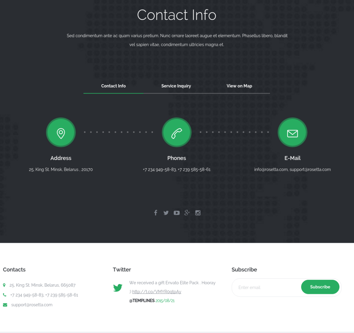 Contact Page - Rosetta