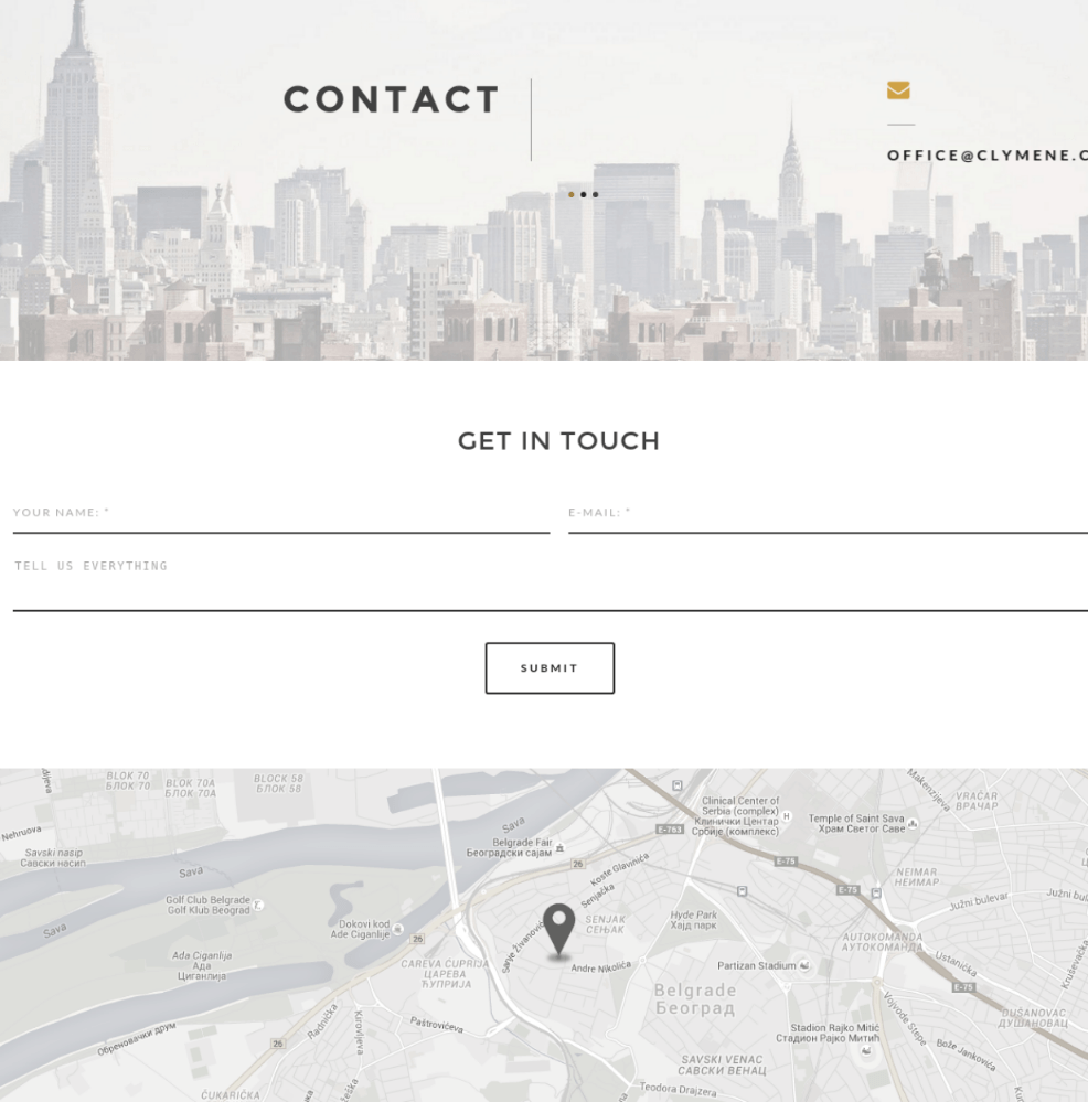 Contact Page of Clymene