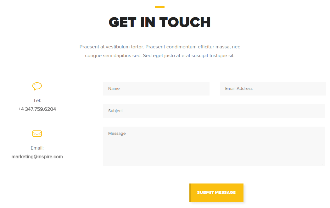 Contact Page of Omni