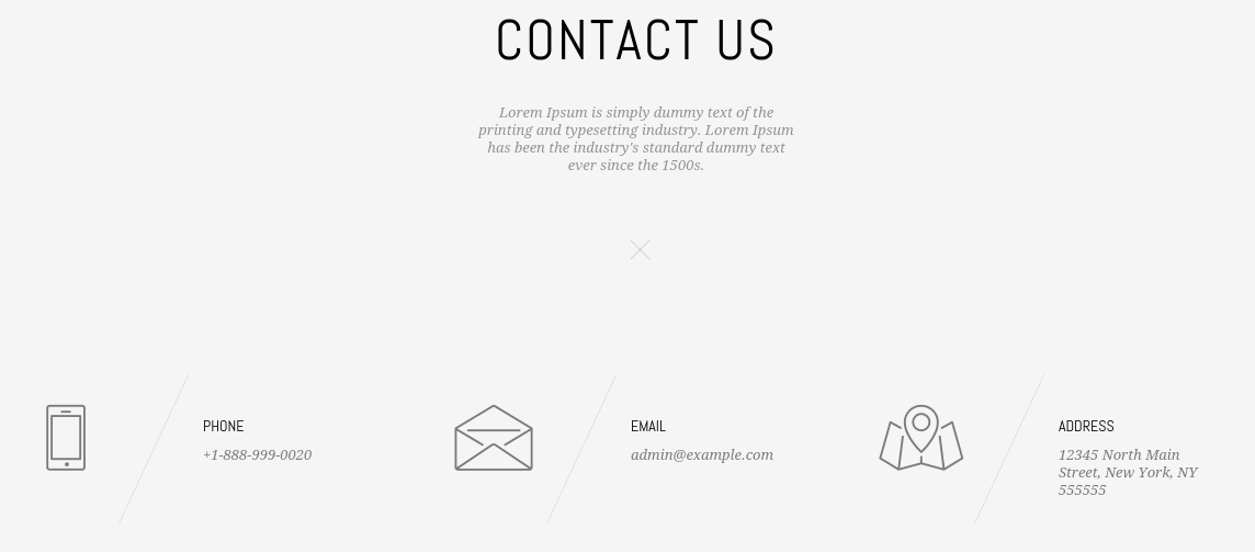 Contact page of MO