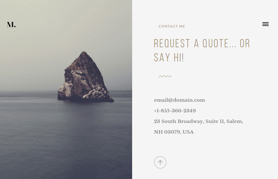 Contact page of Turin