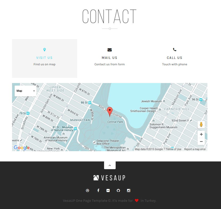 Contact page of VesaUP