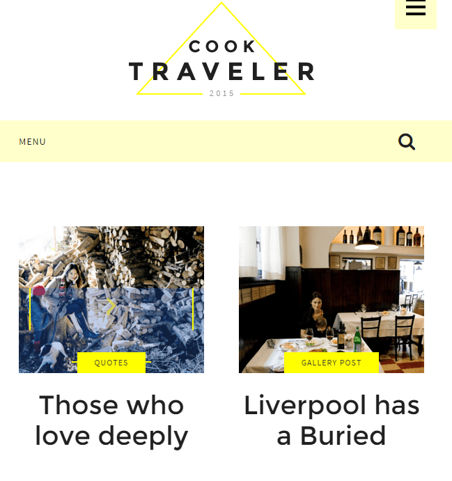 Cook Traveler - Responsive WordPress theme for bloggers