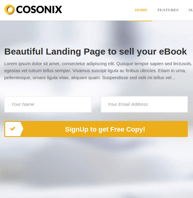 Cosonix homepage