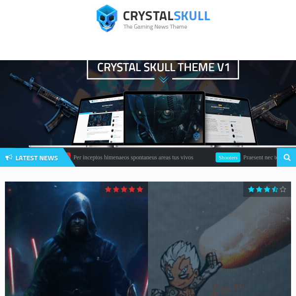 CrystalSkull - Gaming Magazine Wordpress Theme