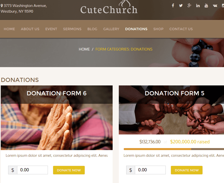 CuteChurch Donate