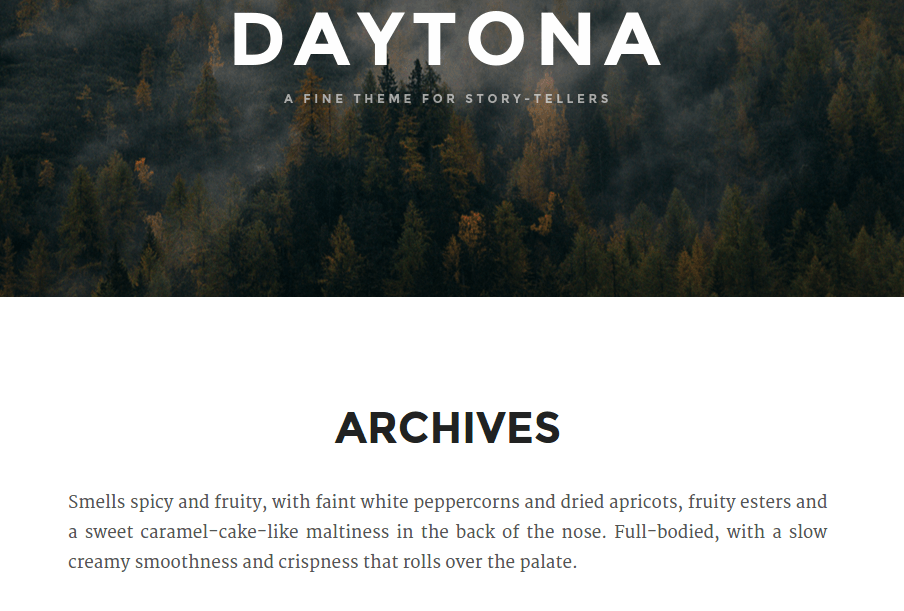 Daytona Archives Page