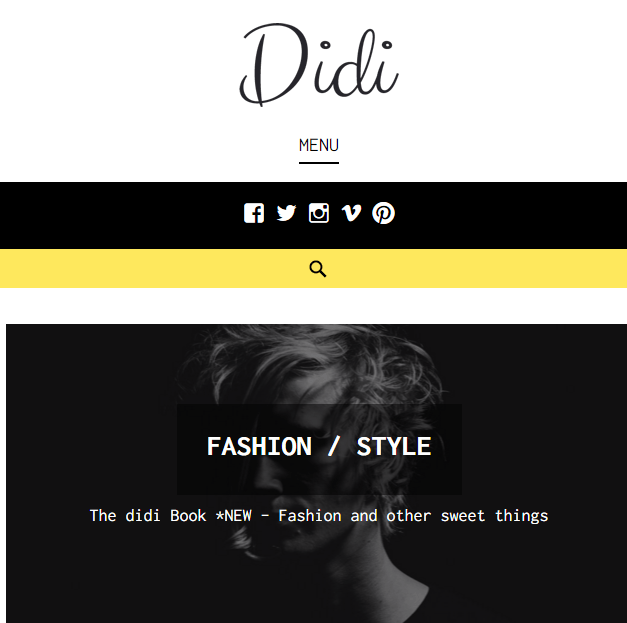 Didi - Responsive Fashion Blog WordPress theme