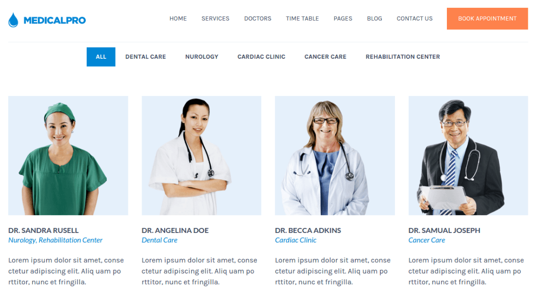 Doctors Page - MedicalPro
