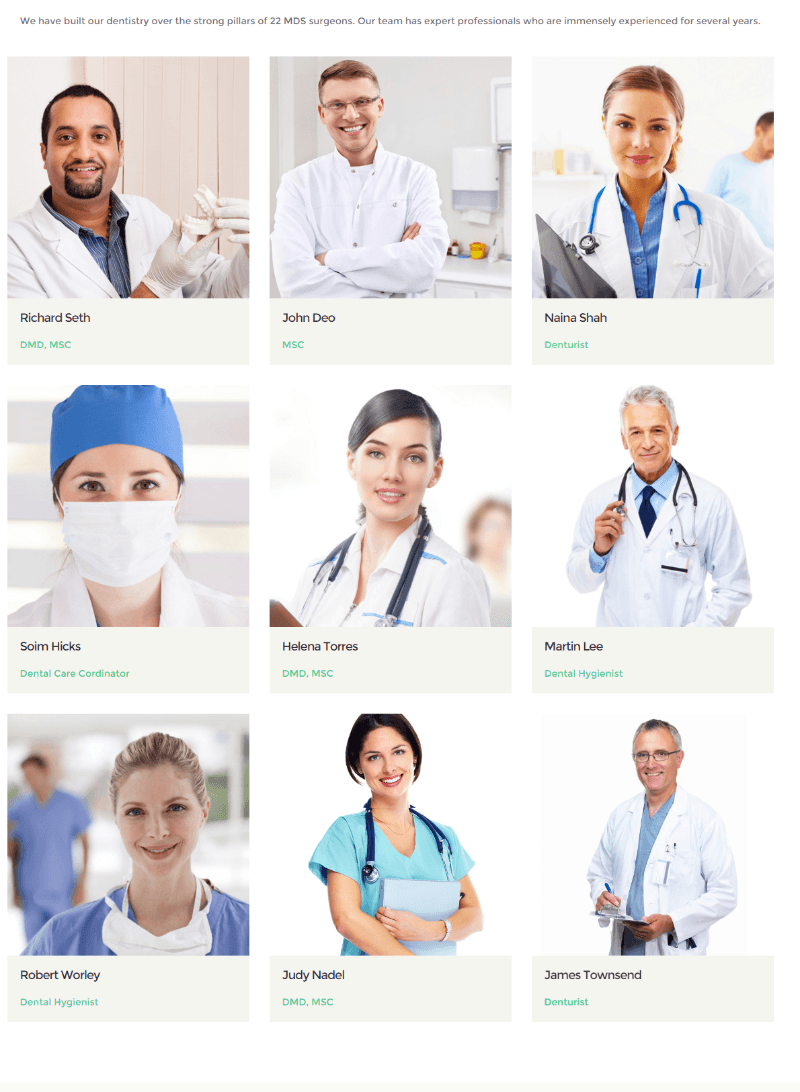 Doctors of Dentistry theme