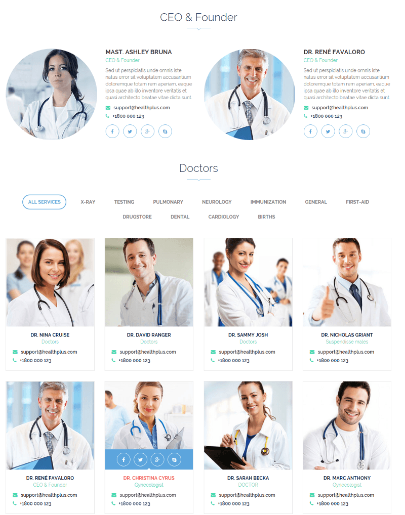 Doctors of Health Plus theme