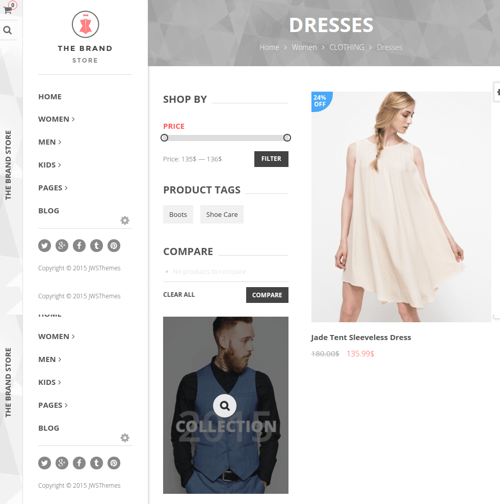 Dresses categories of The Brand