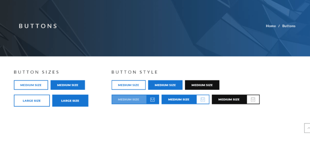 Elements (Button) of Polygon theme.