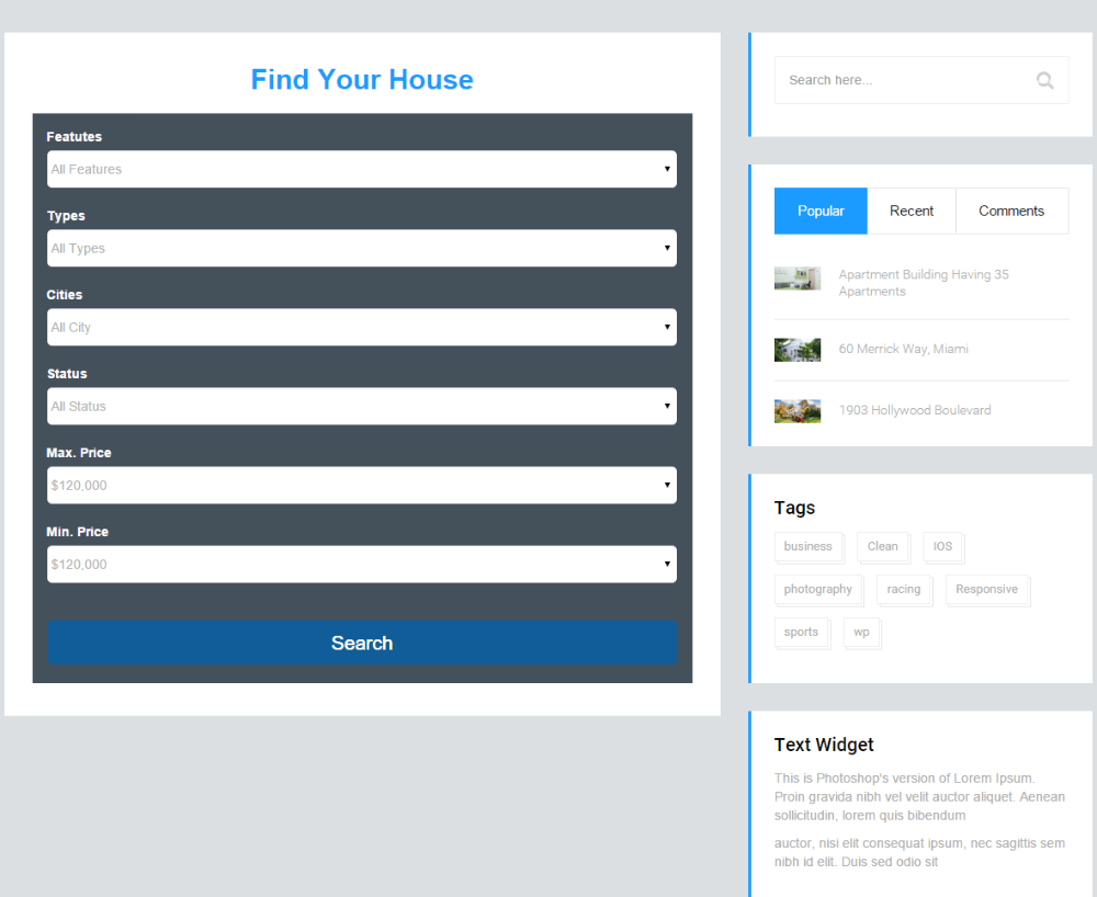 Estate Pro - See how you can find your house