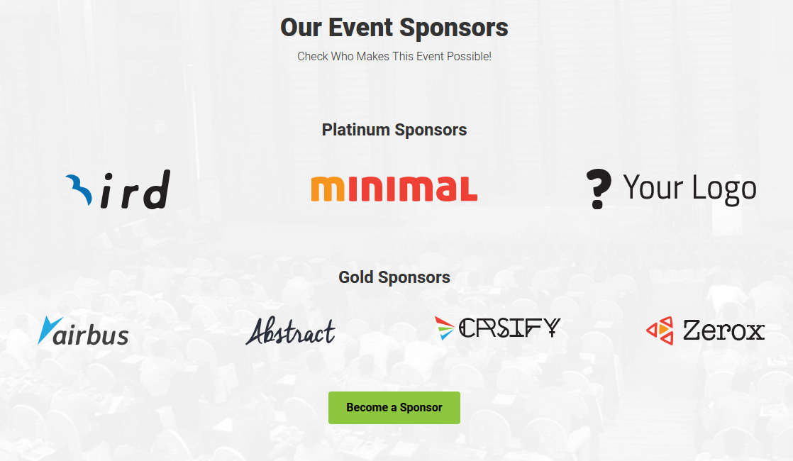 Eventum Sponsers Page