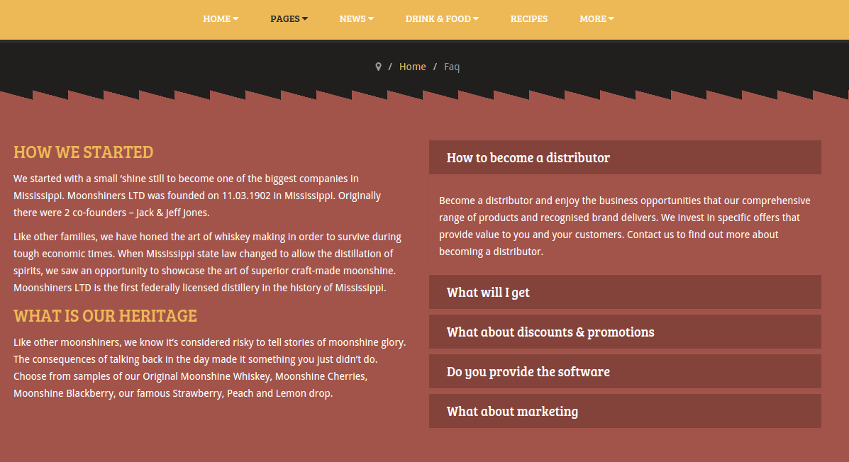 FAQ page of moonshiners
