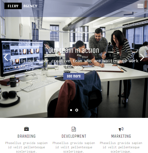 Flexy - Agency and Portfolio WordPress theme