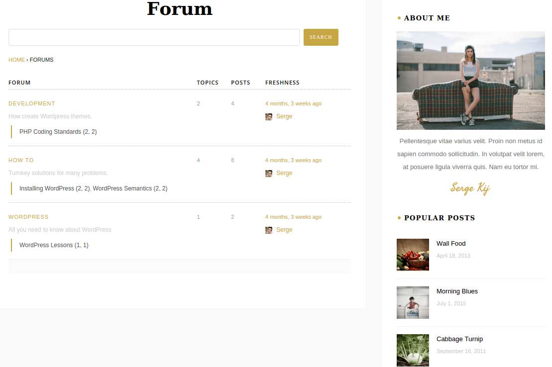 Foxlight Forum Page