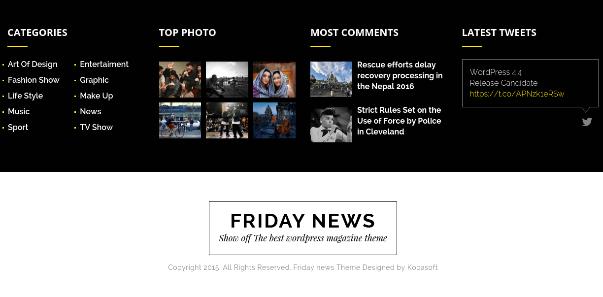 Friday News Footer