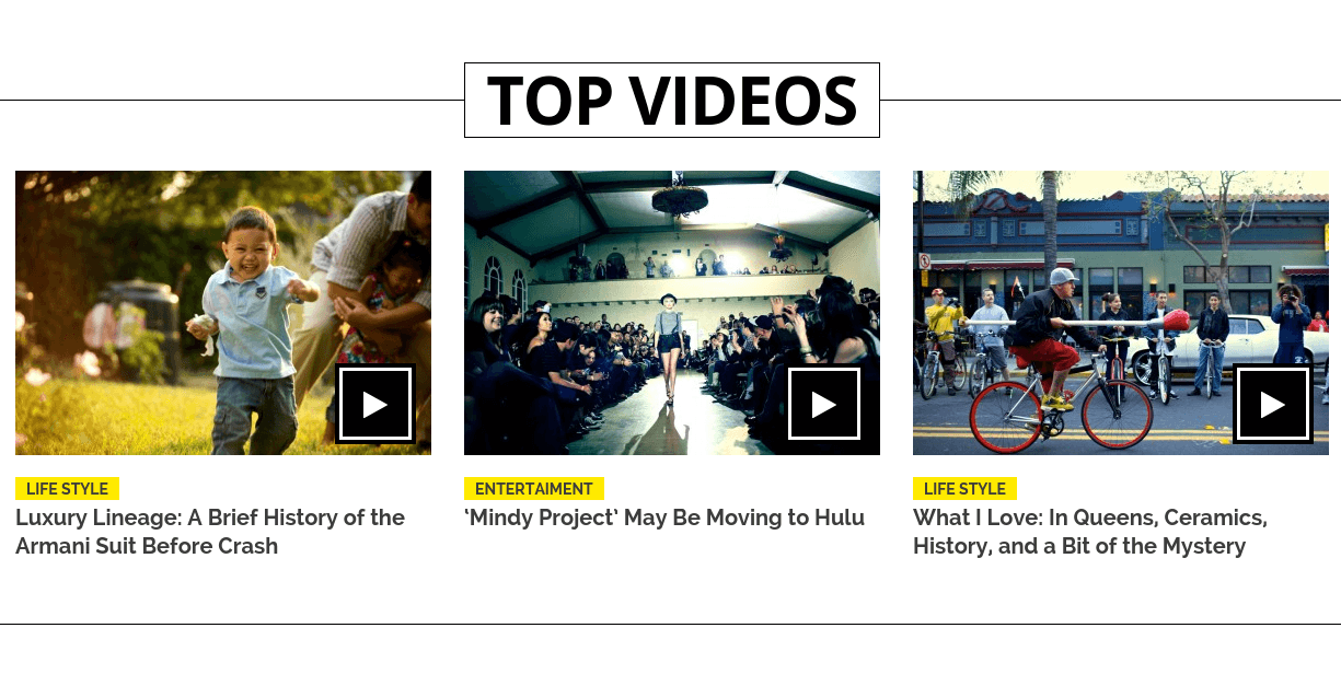 Friday News Top Videos Section