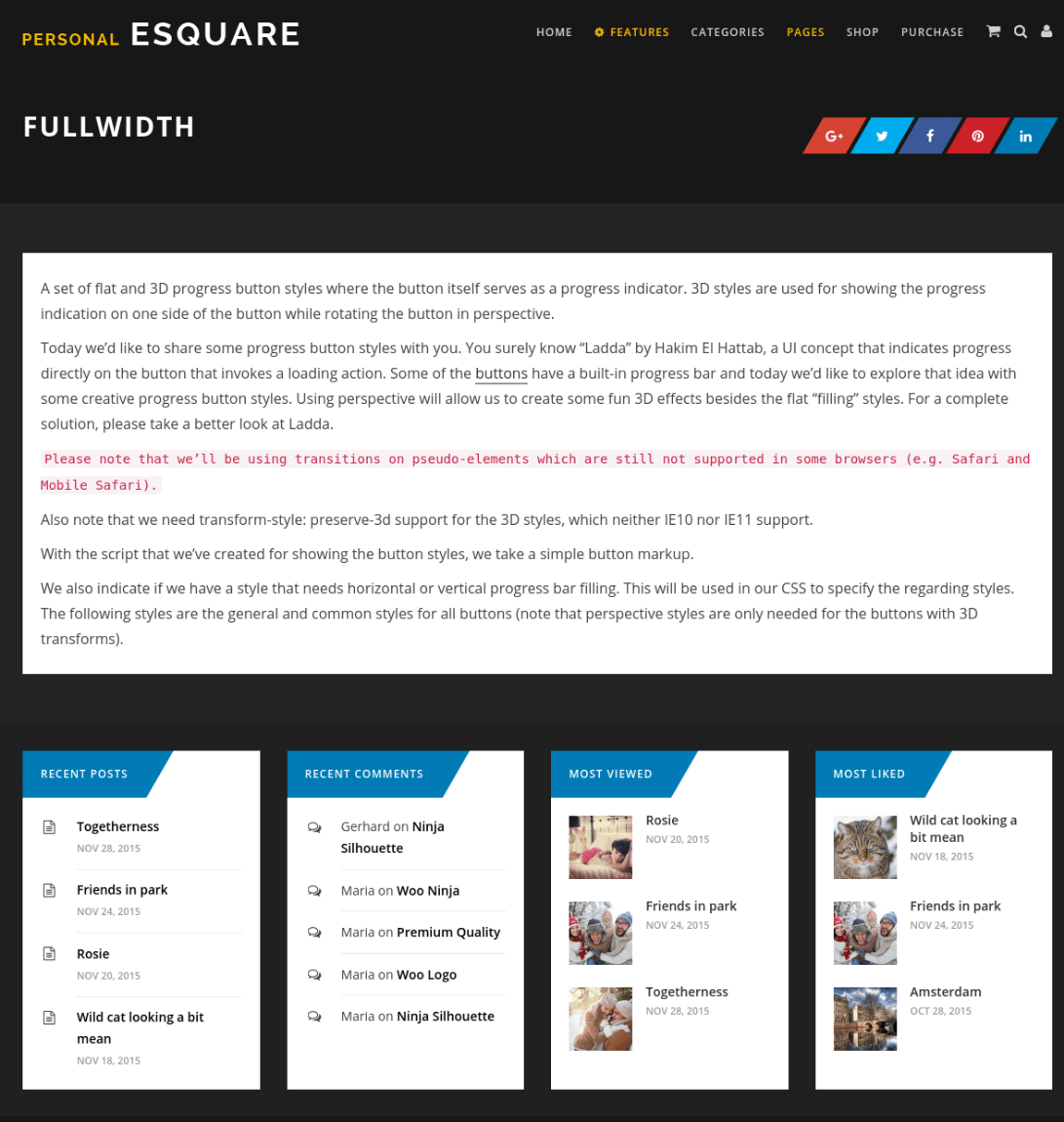 Full Width Page - Esquare