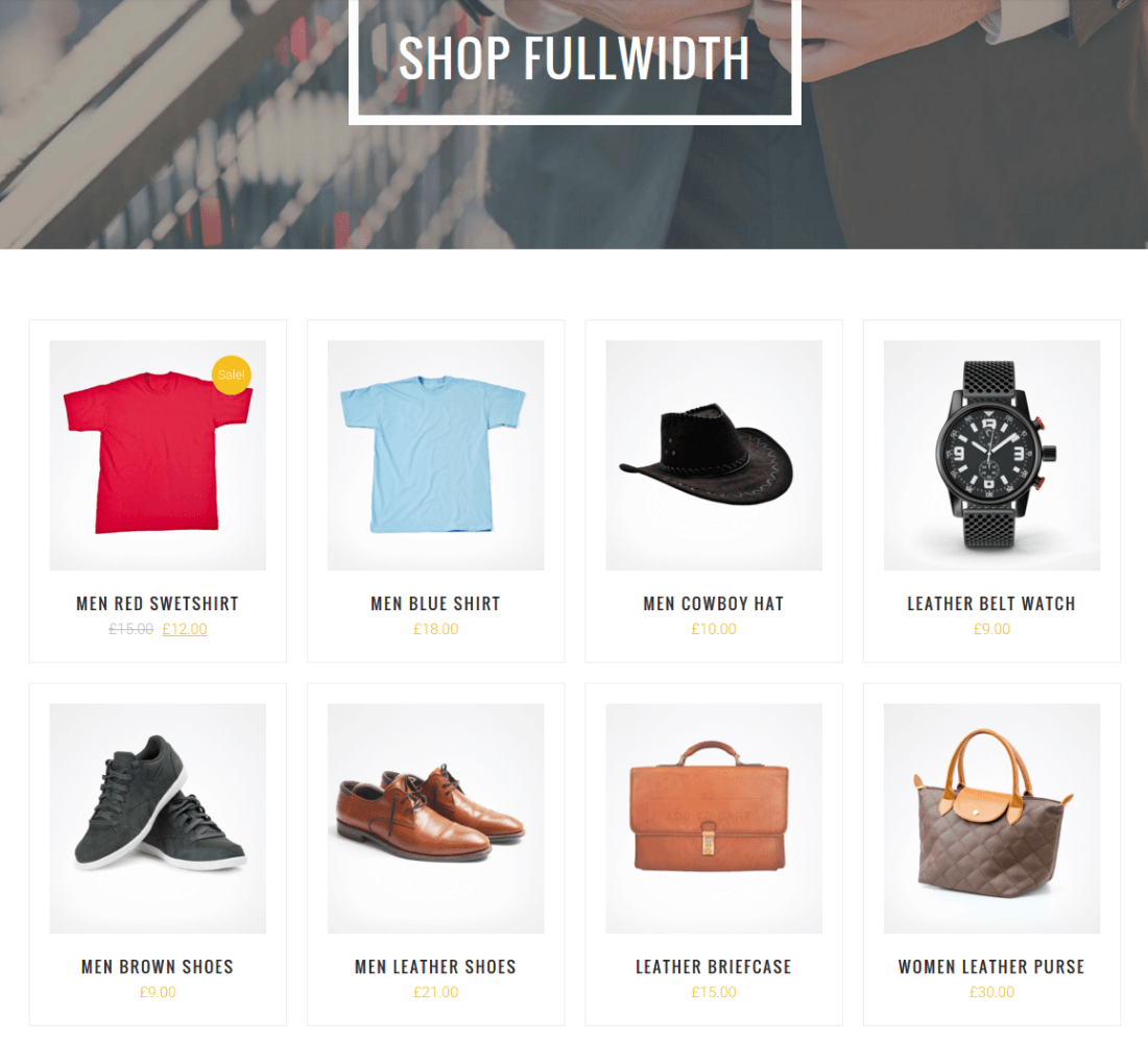 Full Width Shop Page - Abram