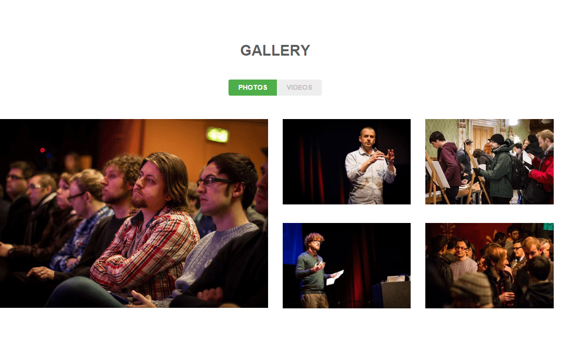 Gallery of Gather theme