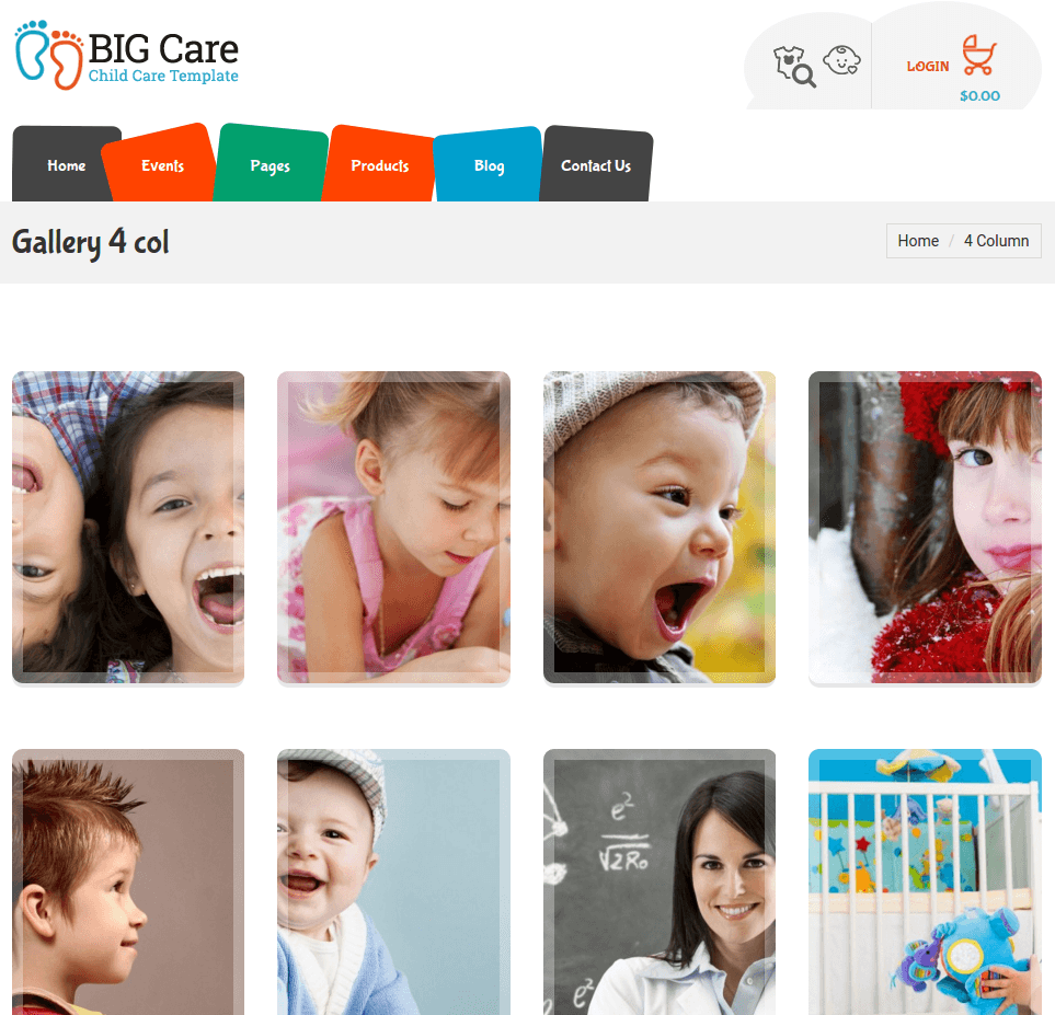 Gallery page of Bigcare